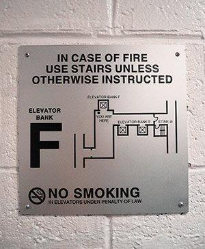 Code Required Door Signs Green Mountain Graphics